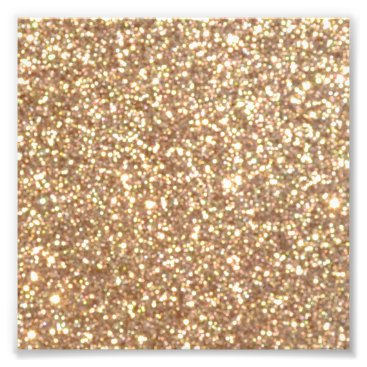 Beach Themed Bright Copper Glitter Sparkles Photo Print