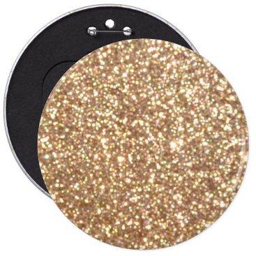 Beach Themed Bright Copper Glitter Sparkles Pinback Button