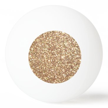 Beach Themed Bright Copper Glitter Sparkles Ping Pong Ball