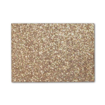 Beach Themed Bright Copper Glitter Sparkles Post-it® Notes