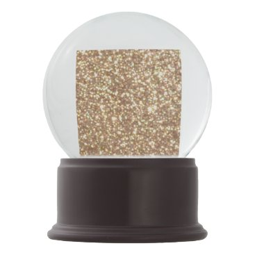Beach Themed Bright Copper Glitter Sparkles Snow Globe