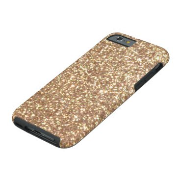 Beach Themed Bright Copper Glitter Sparkles Tough iPhone 6 Case