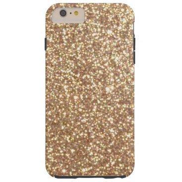 Beach Themed Bright Copper Glitter Sparkles Tough iPhone 6 Plus Case
