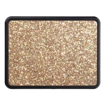 Beach Themed Bright Copper Glitter Sparkles Trailer Hitch Cover