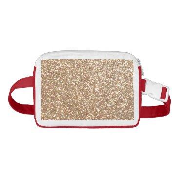 Beach Themed Bright Copper Glitter Sparkles Waist Bag