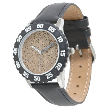 Beach Themed Bright Copper Glitter Sparkles Wrist Watches