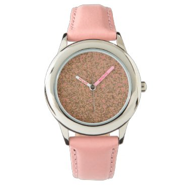 Beach Themed Bright Copper Glitter Sparkles Wristwatches