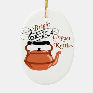 Bright Copper Kettles Ceramic Ornament
