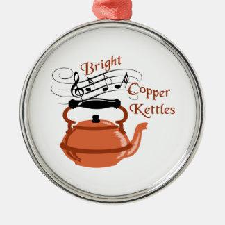 Bright Copper Kettles Metal Ornament