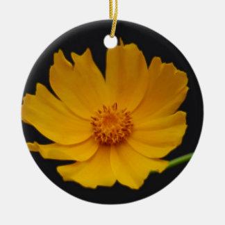 Bright Coreopsis flower Ceramic Ornament
