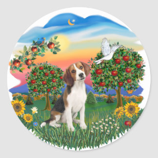 Bright Country - Beagle 1 Classic Round Sticker
