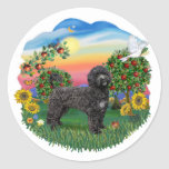 Bright Country - Black Portie 5bw Round Stickers