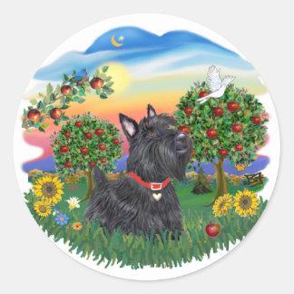 Bright Country - Scottish Terrier 6 Classic Round Sticker