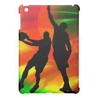 Bright Court Lights and Basketball Duo Case For The iPad Mini