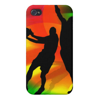 Bright Court Lights and Basketball Duo Cover For iPhone 4