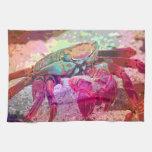 Bright Crab Kitchen Towel