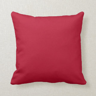 Bright Crimson Red Solid Trend Color Background Throw Pillow