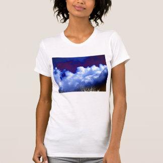 Bright Cumulonimbus incus and Electric Treetops by T-Shirt
