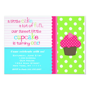 1st birthday cupcake invitations announcements zazzle bright cupcake 1st birthday party invitation filmwisefo Gallery