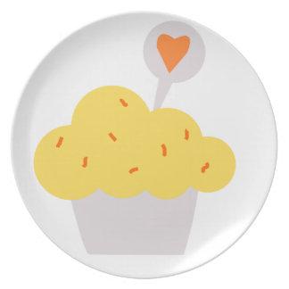 Bright Cupcake Plate