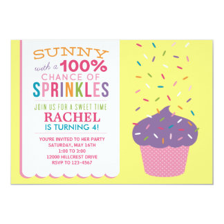 Bright Cupcake Sprinkles Birthday Card