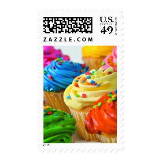 Bright cupcakes postage