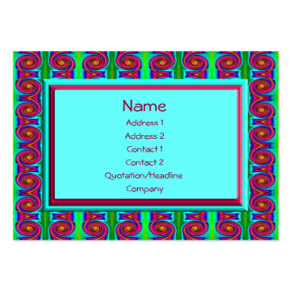 bright curls abstract large business cards (Pack of 100)
