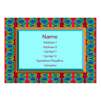 bright curls abstract business card
