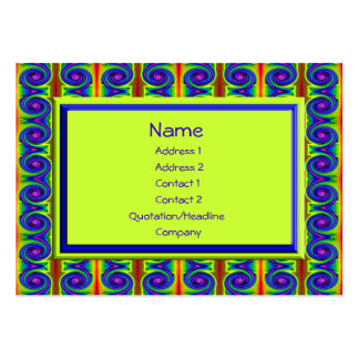 bright curls abstract business card template