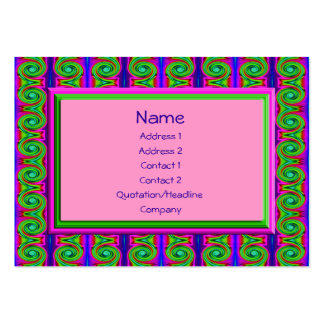 bright curls abstract business cards