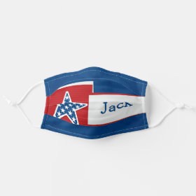 Bright Customiseable Name Patriotic American USA Cloth Face Mask