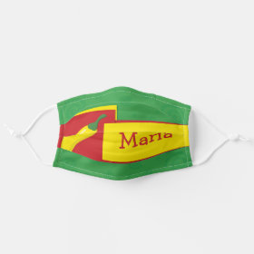 Bright Customizable Name Mexican Fiesta Chilli Cloth Face Mask