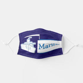 Bright Customizable Name Nautical Boat Cruise Ship Cloth Face Mask