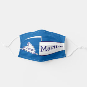Bright Customizable Name Nautical Sail Boat Ship Cloth Face Mask