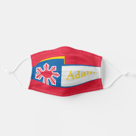 Bright Customizable Name Philippine Flag Sun Cloth Face Mask