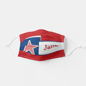 Bright Customizeable Name Patriotic American USA Cloth Face Mask