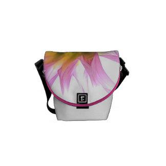Bright Dahlia Flower Mini Messenger Bag