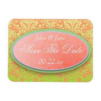 """Bright Damask """"Save The Date"""" Flexible Magnet"""