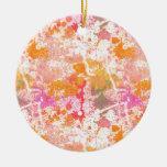 Bright & Dark Splatters Ornament