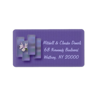Bright Day Lavender Lily Address Label