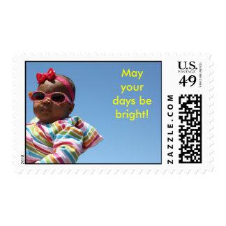 Bright days baby postage stamp.