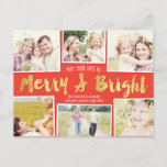 "Bright Days Editable Color Collage Holiday Card<br><div class=""desc"">Celebrate the season with this modern and stylish holiday postcard from Berry Berry Sweet.</div>"