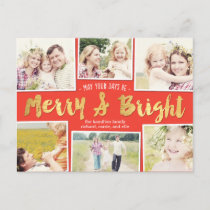 Bright Days Editable Color Collage Holiday Card