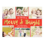 Bright Days Editable Color Collage Holiday Card at Zazzle