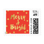 Bright Days Editable Color Holiday Postage Stamp