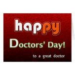 Bright de los doctores felices y colorido felicitaciones