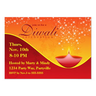 Diwali festival invitations announcements zazzle bright deepa diwali invitation stopboris Choice Image