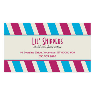 Bright Diagonals Appointment Business Card