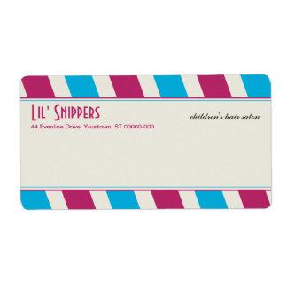 Bright Diagonals Shipping Label