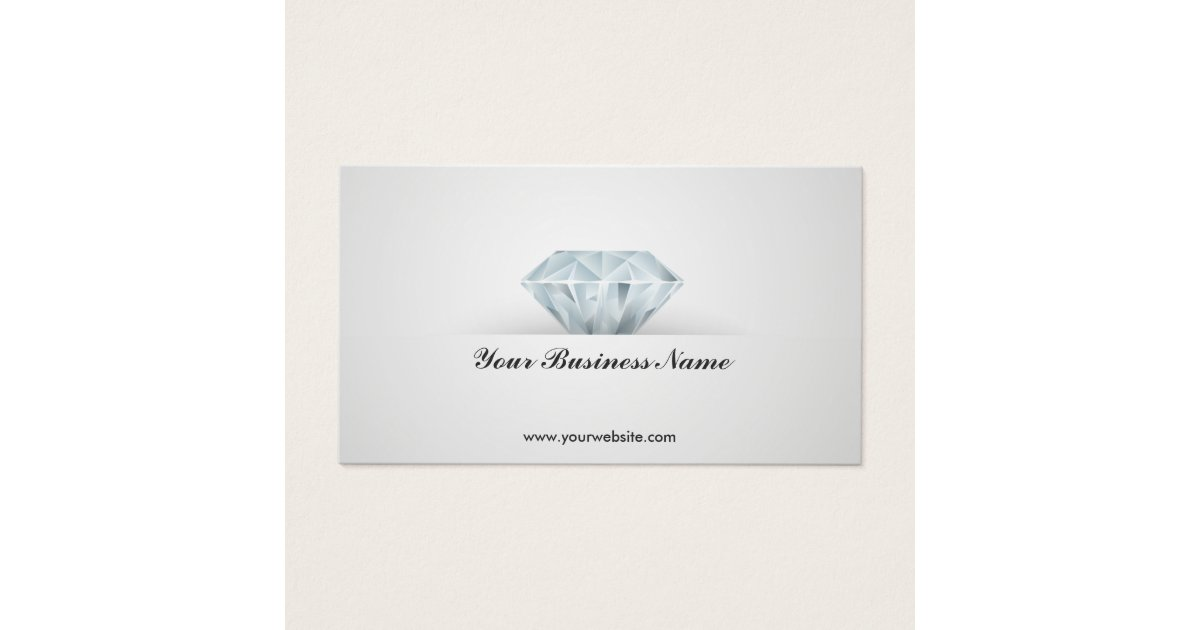 Bright Diamond Jewelry Design Business Card | Zazzle.com